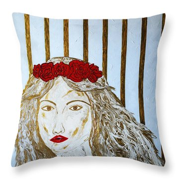 Who Is She? Throw Pillow