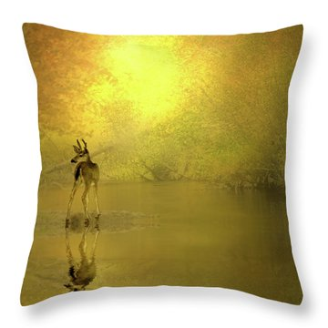 A Silent Autumn Morning Throw Pillow