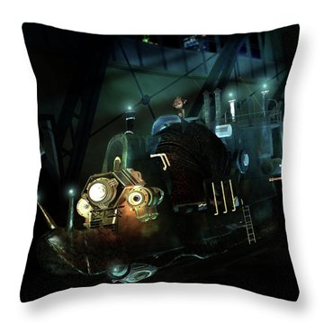 Who Knew Part Two Throw Pillow by Mary Hood