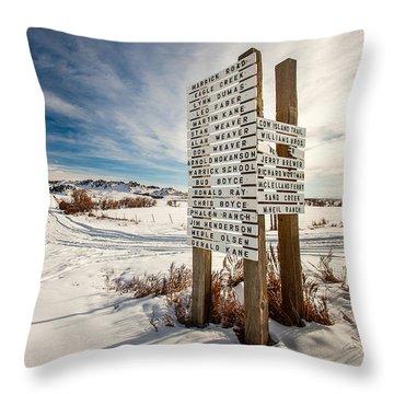 Who Lives Where Throw Pillow