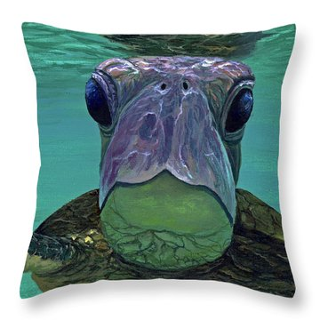Throw Pillow featuring the painting Who Me? by Darice Machel McGuire