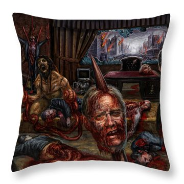 Who Rules Throw Pillow by Tony Koehl