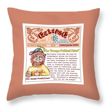 Real Fake News Analyst 3 Throw Pillow