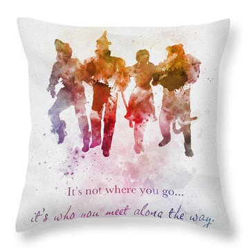 Who You Meet Along The Way Throw Pillow