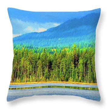 Throw Pillow featuring the photograph Whonnock Lake Mountain Photo Art by Sharon Talson