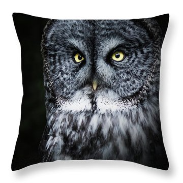 Whooo Are You Looking At? Throw Pillow