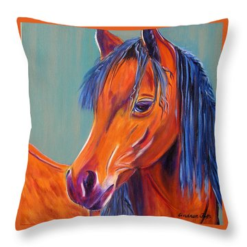 Whoopi Throw Pillow by Andrea Folts