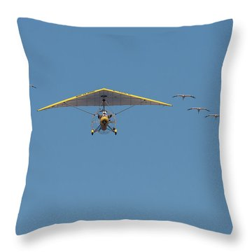 Whooping Cranes And Operation Migration Ultralight Throw Pillow