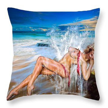 Whoops  ...  Marylin Throw Pillow by Glenn Feron