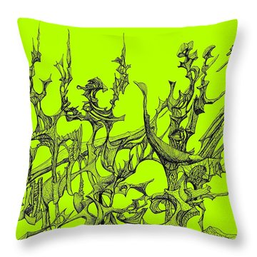 Whooshh -  Lime Background Throw Pillow