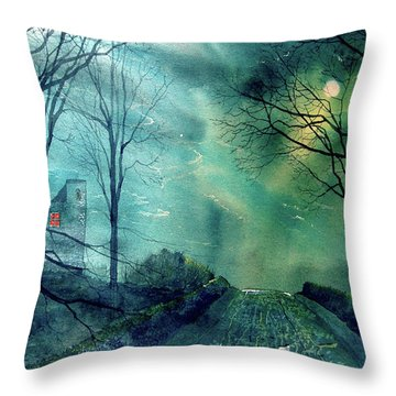 Whorlton Castle Throw Pillow