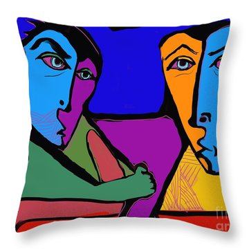 Who's Doing This? Throw Pillow by Hans Magden
