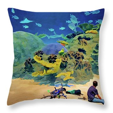 Who's Fishing? Throw Pillow