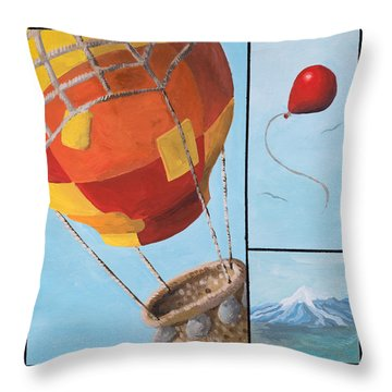 Who's Flying This Thing? Throw Pillow