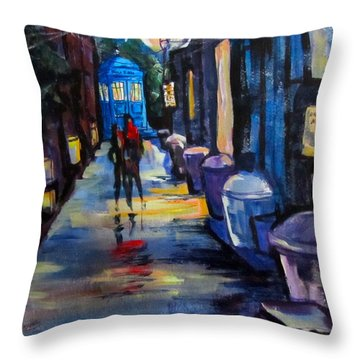 Who's Heading Back Throw Pillow