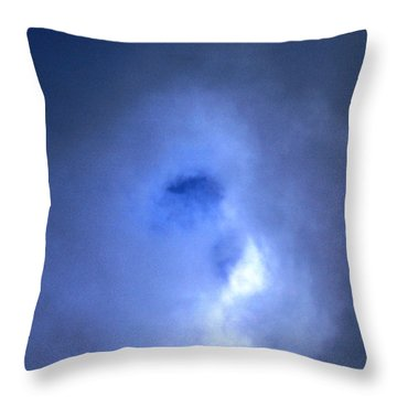 Who's In The Clouds Throw Pillow