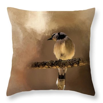 Who's There? Throw Pillow by Cyndy Doty