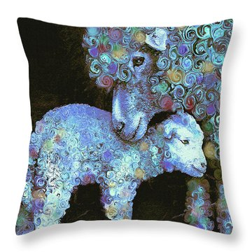 Whose Little Lamb Are You? Throw Pillow by Jane Schnetlage