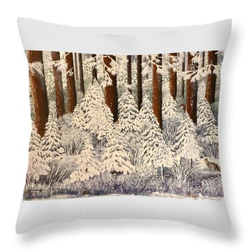 Whose Woods These Are I Think I Know Throw Pillow