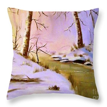 Whose Woods These Are Throw Pillow