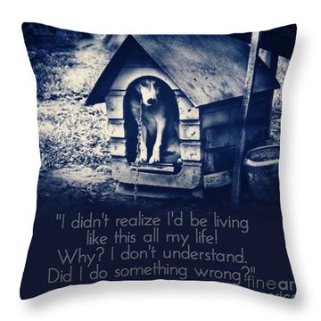 Throw Pillow featuring the digital art Why Am I Living Like This by Kathy Tarochione