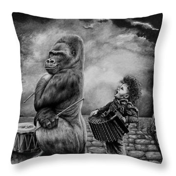Throw Pillow featuring the drawing Why Did You Stop by Geni Gorani