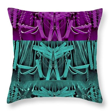 Why Not In Three Parts Throw Pillow