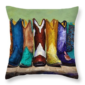 Why Real Men Want To Be Cowboys Throw Pillow