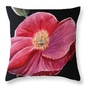 Shirley Poppy Throw Pillow