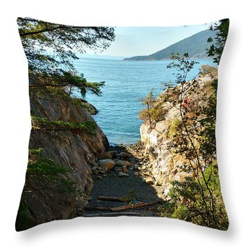 Whyte Cliff Park Throw Pillow