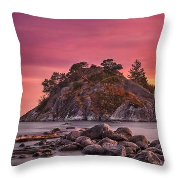 Whytecliff Island Sunset Throw Pillow