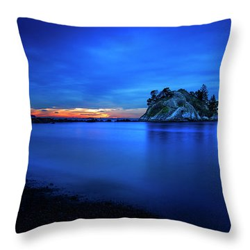 Whytecliff Sunset Throw Pillow by John Poon