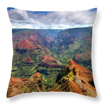 Wiamea View Throw Pillow by Mike  Dawson