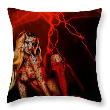 Wicked Beauty Throw Pillow