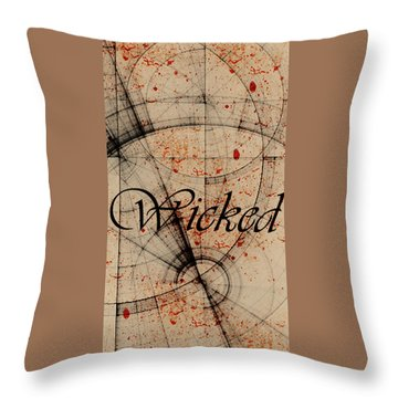 Throw Pillow featuring the digital art Wicked by Cynthia Powell