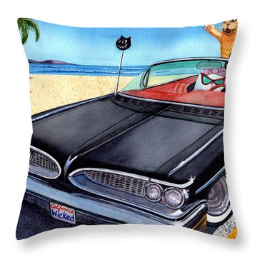 Wicked Kitty's Catalina Throw Pillow