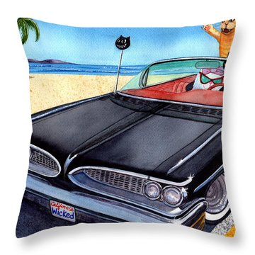 Wicked Kitty's Catalina Throw Pillow