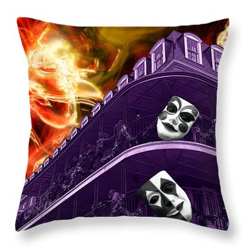 Throw Pillow featuring the digital art Wicked Nola by John Rizzuto