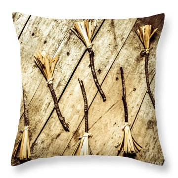 Wicked Witch Broomsticks Throw Pillow