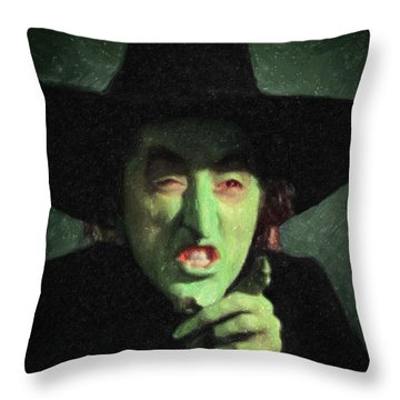 Wicked Witch Of The East Throw Pillow by Taylan Apukovska