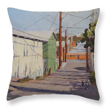 Wickenburg Alley Cats Throw Pillow