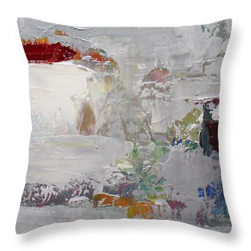 Wide Abstract B Throw Pillow by Becky Kim