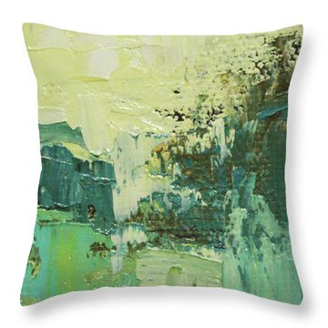 Wide Abstract H Throw Pillow by Becky Kim