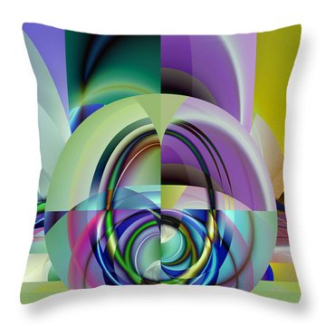 Wide Eye Throw Pillow by Frederic Durville
