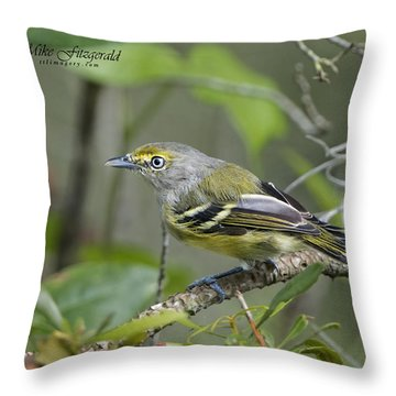 Wide Eyed And White Eyed Throw Pillow