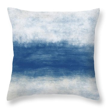 Wide Open Ocean- Art By Linda Woods Throw Pillow