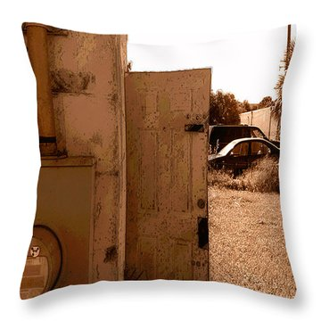 Throw Pillow featuring the photograph Wide Open by Steve Sperry