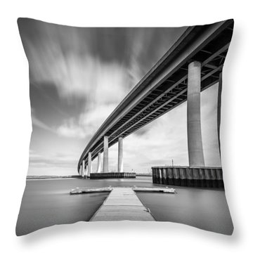 Throw Pillow featuring the photograph Wide  River Bridge by Gary Gillette