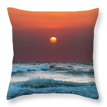 Widemouth Sunset, Cornwall Throw Pillow