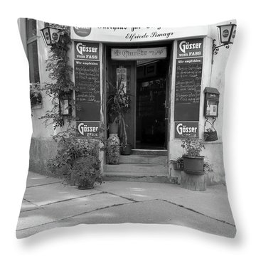 Wiener Wirtshaus Throw Pillow by Christian Slanec